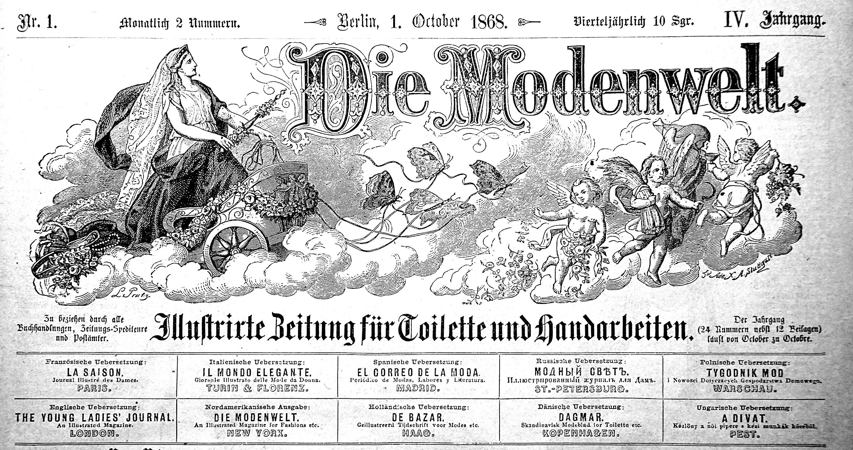 Die Modenwelt 1868